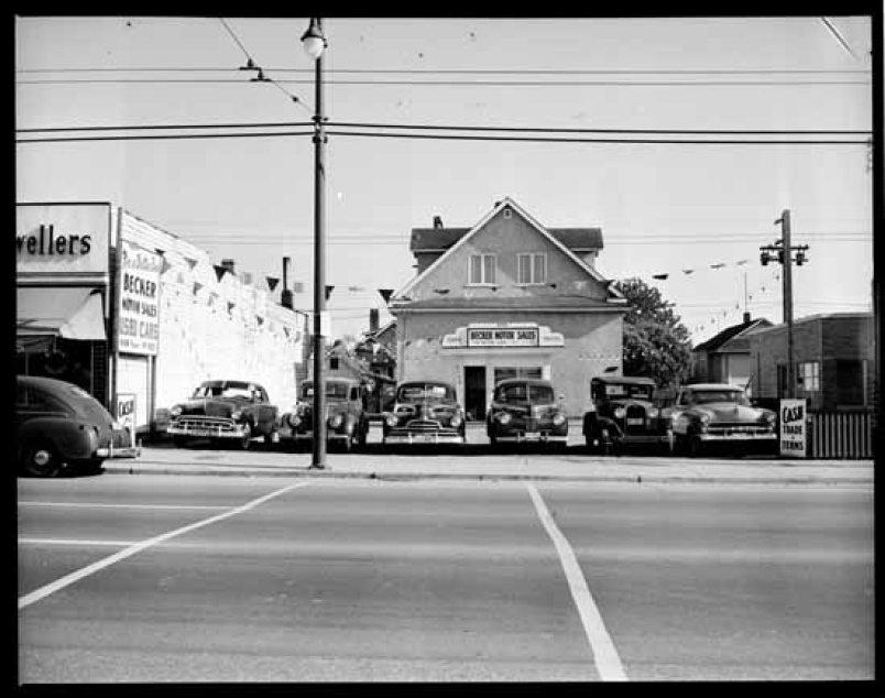 fraser street in the 1950's
